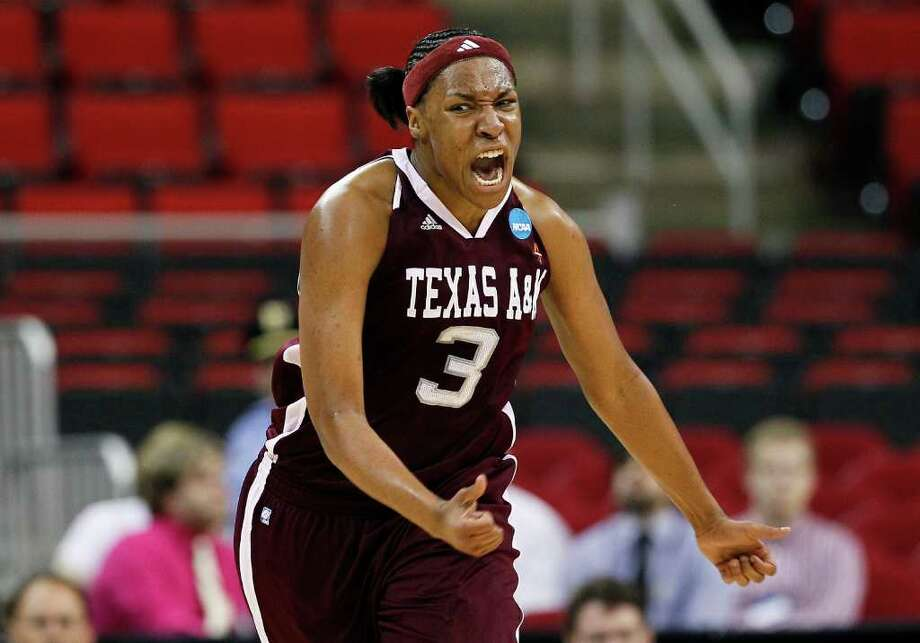 Kelsey Bone led the Aggies with 31 points and 10 rebounds. (AP Photo/Gerry Broome) Photo: Gerry Broome, Associated Press / AP