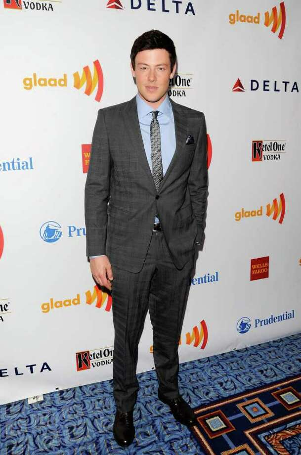 Actor Cory Monteith attends the 23rd Annual GLAAD Media Awards on Saturday, March 24, 2012 in New York. (AP Photo/Evan Agostini) Photo: Evan Agostini