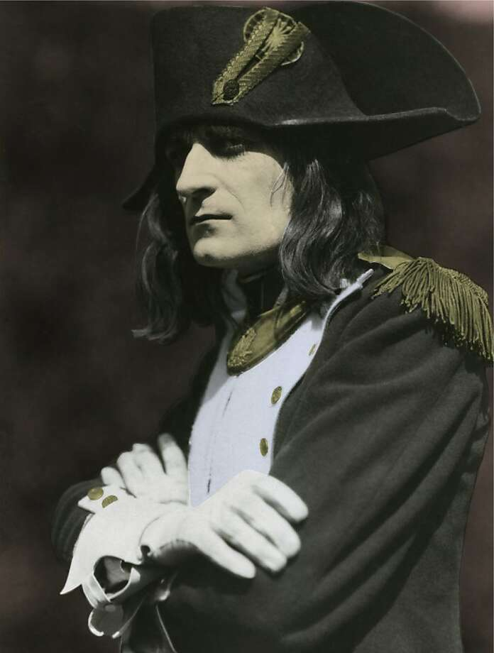 Albert DieudonnŽ in the title role of Abel GanceÕs legendary epic NAPOLEON. The San Francisco Silent Film Festival will present the U.S. premiere of Kevin BrownlowÕs complete restoration, accompanied by a live symphony score conducted by composer Carl Davis, at the Paramount Theatre, Oakland, in spring 2012. Photo: Color By Keiko Kimura, Photo Courtesy Photoplay Product