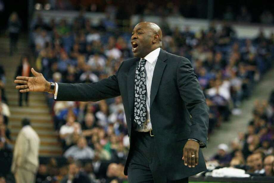 Sacramento Kings head coach Keith Smart direct the Kings against the Utah Jazz during the second half of an NBA basketball game in Sacramento, Calif., Thursday, March 22, 2012. The Jazz won 103-102.(AP Photo/Steve Yeater) Photo: Steve Yeater