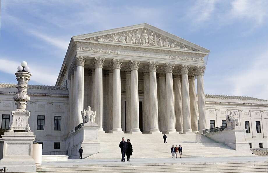 FILE - In this Jan. 25, 2012 file photo, the U.S. Supreme Court Building is seen in Washington. The health insurance industry is spending millions to carry out President Barack Obama's health care overhaul, essentially betting that the law or major parts of it will survive Supreme Court scrutiny.  (AP Photo/J. Scott Applewhite, File) Photo: J. Scott Applewhite, Associated Press