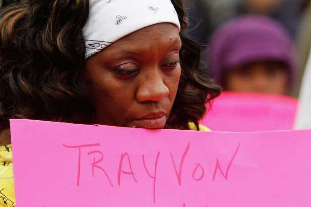 Ella Davenport protests the shooting death of  unarmed Florida teenager Trayvon Martin. Photo: JOE DYER / SEATTLEPI.COM