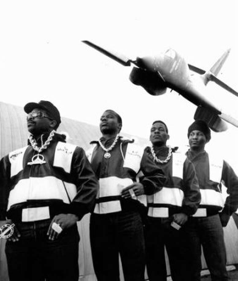 Sir-Mix-a-Lot, pictured with his posse at the Museum of Flight.