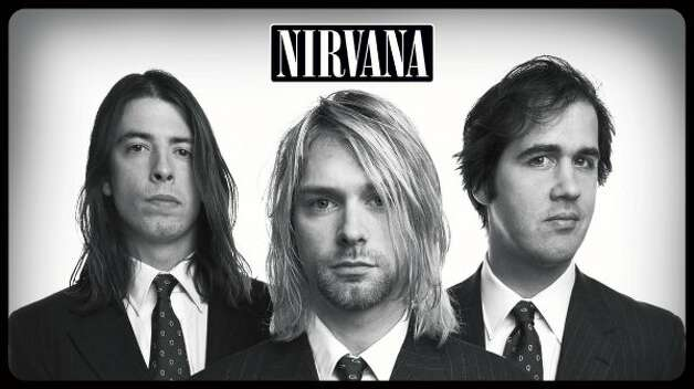 Nirvana: (left to right): Dave Grohl, Kurt Cobain, Krist Novoselic.