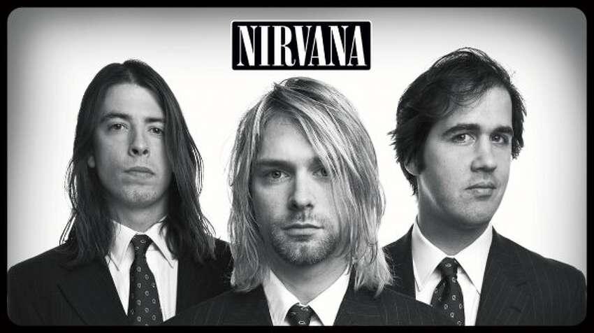 Nirvana: (left to right): Dave Grohl, Kurt Cobain, Krist Novoselic.