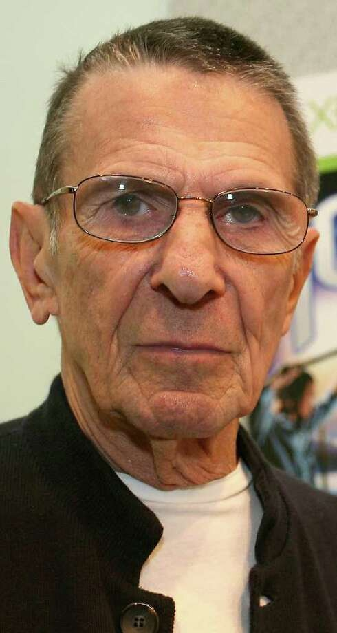 Actor Leonard Nimoy attends the launch event of Yoostar 2 at the 2010 E3 Expo in Los Angeles, on June 16, 2010. Typically a stage for new blockbuster titles, the Electronic Entertainment Expo (E3) this year will also be an arena where Sony, Microsoft and Nintendo duel with motion-sensing controls for rival PlayStation 3, Xbox 360, and Wii consoles.   AFP PHOTO / VALERIE MACON (Photo credit should read VALERIE MACON/AFP/Getty Images)(Photo Credit should Read /AFP/Getty Images) Photo: VALERIE MACON / AFP
