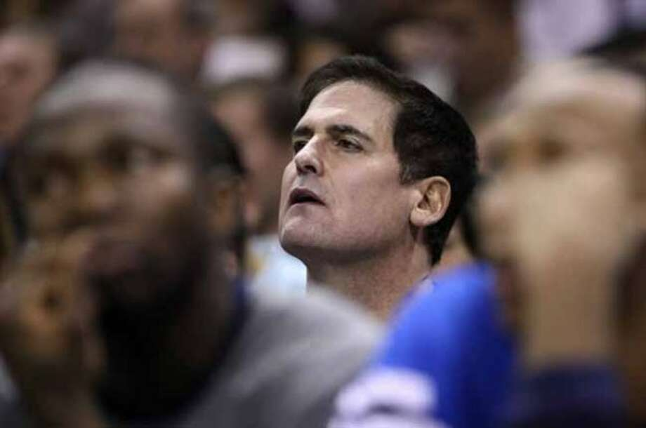 FOR SPORTS - Mavericks owner Mark Cuban looks on during second half action Thursday Jan. 5, 2012 at the AT&T Center.  (PHOTO BY EDWARD A. ORNELAS/eaornelas@express-news.net) (EDWARD A. ORNELAS / SAN ANTONIO EXPRESS-NEWS)