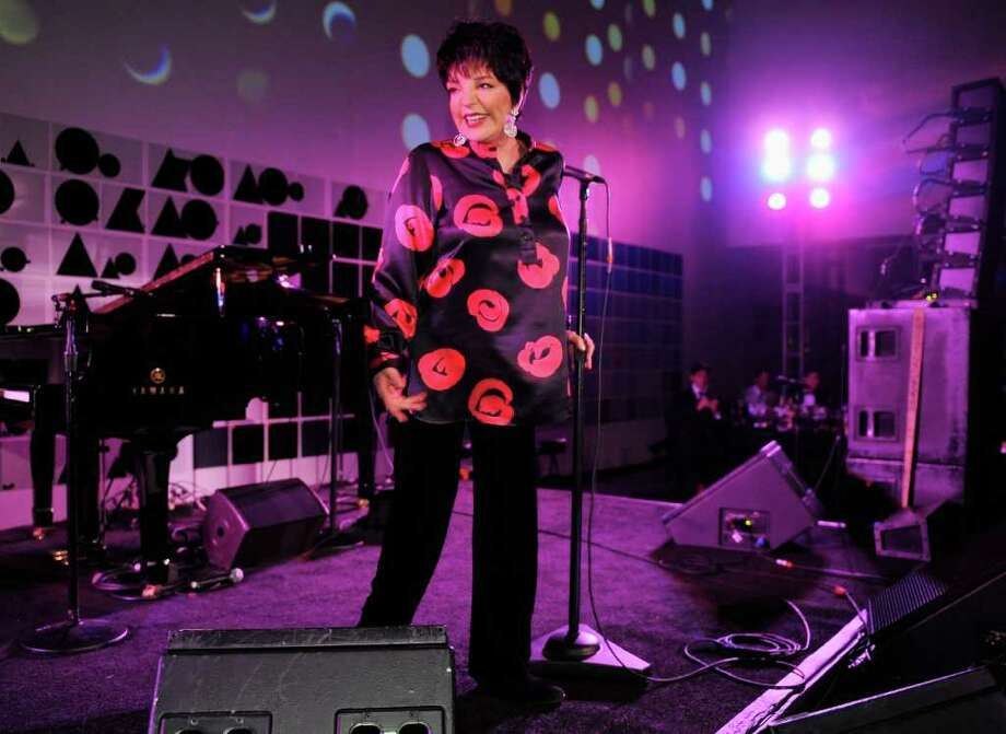Liza Minnelli performs during the seconda Annual amfAR Inspiration Gala at The Museum of Modern Art on June 14, in  New York City. On Friday, March 30, Minnelli is expected to be in Stamford to accept an Arts Legacy award from the Stamford Center for the Arts, as well as perform in concert. Money raised during the event supports the center's education programs. For ticket information, visit www.scalive.org. (Photo by Jemal Countess/Getty Images) Photo: Contributed Photo / Stamford Advocate Contributed