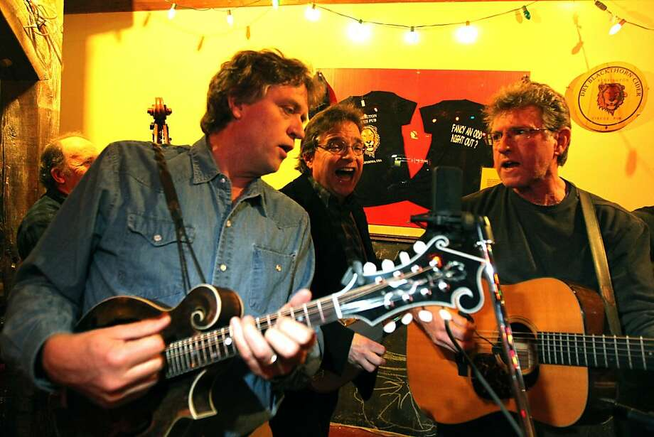 Bangers and Grass members Tom Bekeny, Bill Evans and Jim Nunally perform during a night of old time music Thursday, March 15, 2012 at The Kensington Circus Pub in Kensington Calif. Photo: Lance Iversen, The Chronicle