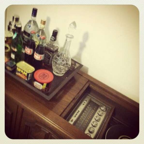 My friend Alyson's Magnavox Astro-Sonic hi-fi. Oh, and cocktails ... and spam.