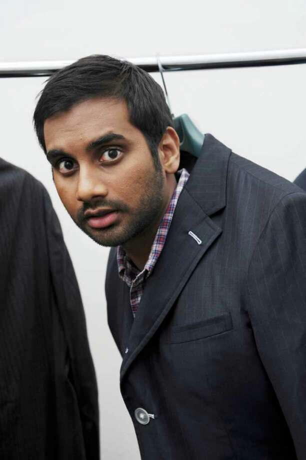 "Aziz Ansari at Studio City in Los Angeles in 2010. The comedian Ansari, a  star of ""Parks and Recreation"" on NBC, is refining material for his new  stand-up tour and will host the MTV Movie Awards. Photo: ROBERT YAGER, The New York Times / NYTNS"