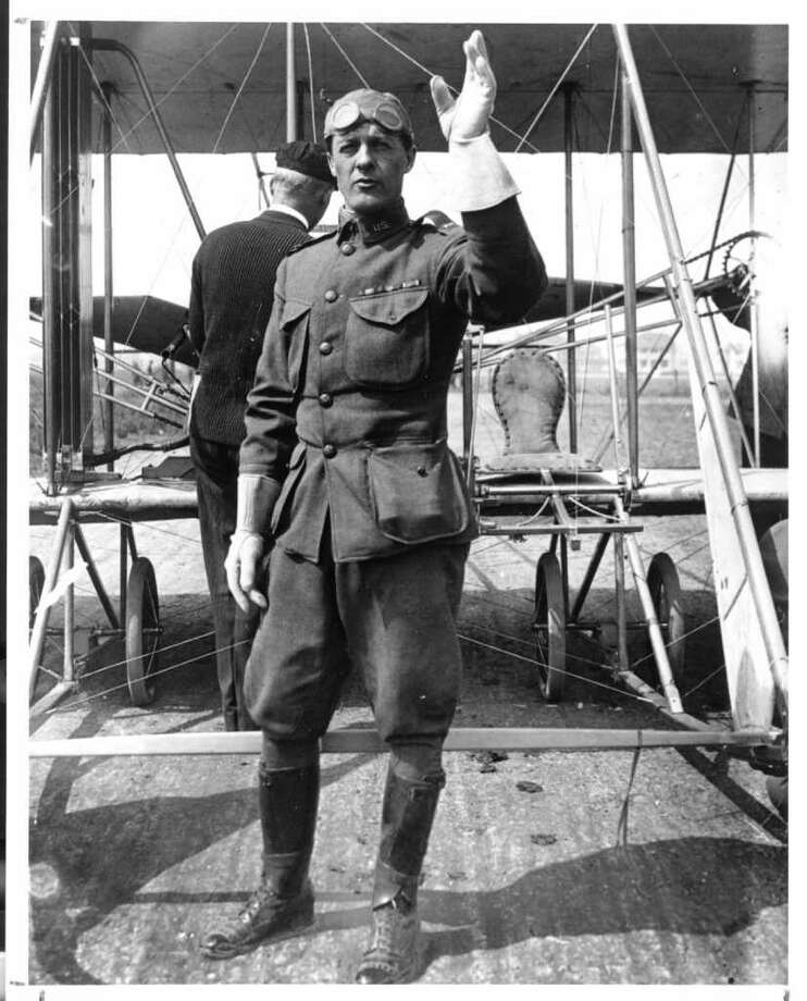 """Question No. 2: The Army's """"air corps"""" was established at Fort Sam Houston in 1910-1911 when Benjamin Foulois and eight others were sent there. What type of plane was first used, and how did Foulois learn to fly it? PHOTO: Foulois at Kelly Field in the 1900s. Photo: USAF PHOTO / KELLY AFB"""