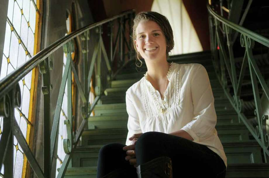 "Alexis ""Biz"" Deeb, a Union College student poses inside the Nott Memorial on the college's campus on Monday, March 26, 2012 in Schenectady, NY.  Deeb has received a Minerva Fellowship from Union College to work in Africa for 9 months at a health clinic and to help out in the village.  (Paul Buckowski / Times Union) Photo: Paul Buckowski"