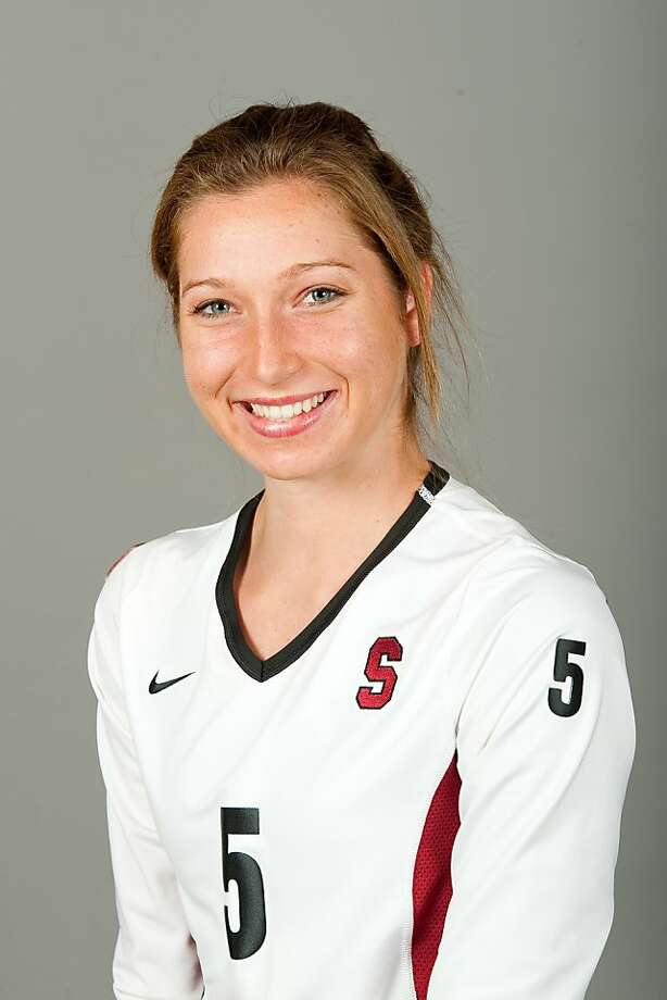 Samantha Wopat STANFORD, CA-MAY 20, 2011- Stanford Women's Volleyball team. Photo: Don Feria, Stanford Athletics