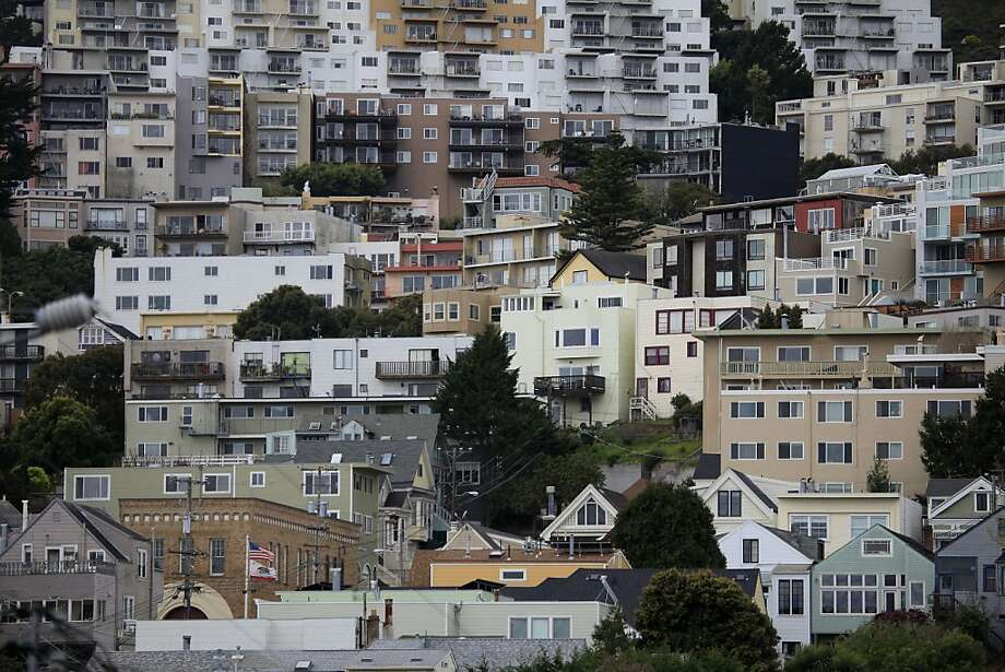 Homes in San Francisco sit close together on Monday, March 26, 2012 in San Francisco, Calif. Photo: Lea Suzuki, The Chronicle