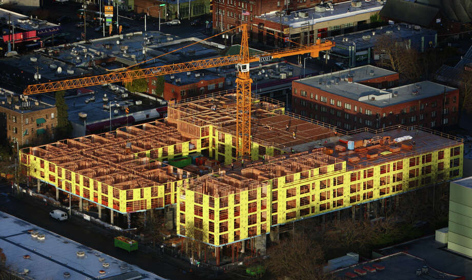 An apartment building is shown under construction in the Queen Anne neighborhood. Photo: JOSHUA TRUJILLO / SEATTLEPI.COM