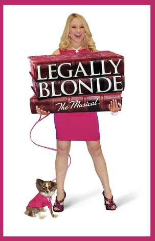 "Miller with her canine co-star Kevin Wehner in ""Legally Blonde."" Photo: Courtesy, Sandra Trevino"