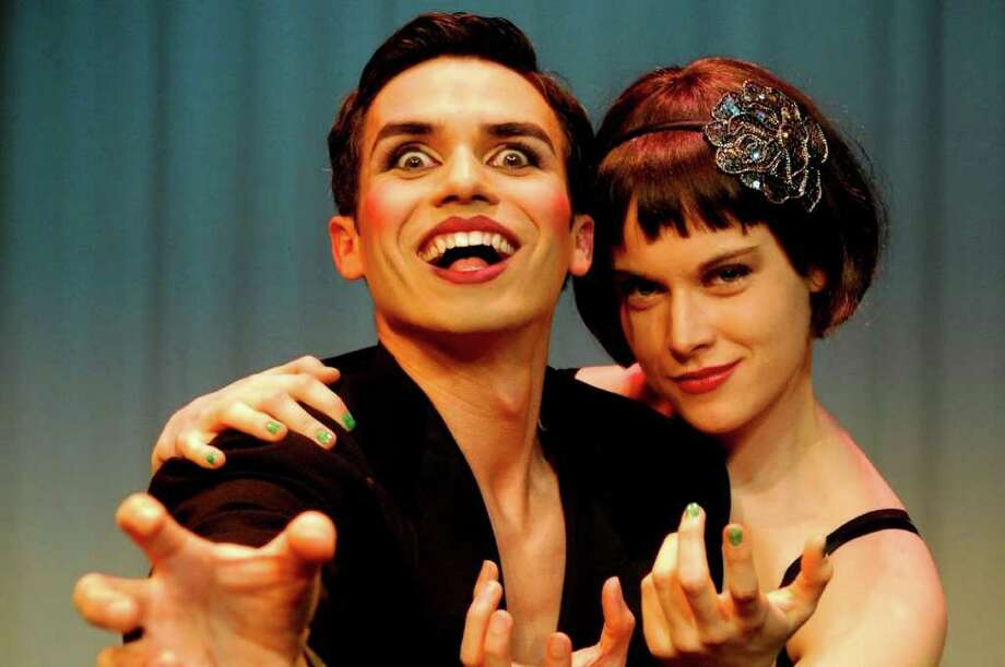 "Rick Sanchez (from left) and Paige McGhee star in Allegro Stage Company's ""Cabaret."" Courtesy Siggi Ragnar / sRagnar Fotografi"