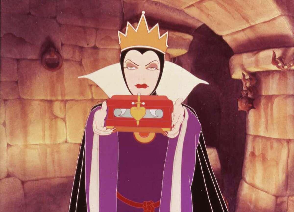 "Evil Queen in Disney's 1937 ""Snow White and the Seven Dwarfs."""