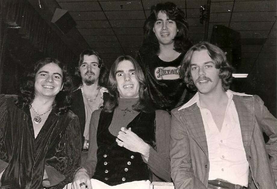 "San Antonio rock band Heyoka, circa 1978, were, from left, Armando ""Dito"" Garcia, Dennis Bonnet, Michael Grothues, Gerardo Ramirez and Pat Hood, who replaced founding bassist Val Mora. Photo: Courtesy Gerardo Ramirez"
