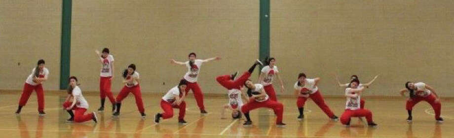 Fairfield Warde's dance team performs its hip hop routine at the state championships in Hamden. The Mustangs squad finished second in the state in hip hop this year. Photo: Contributed Photo
