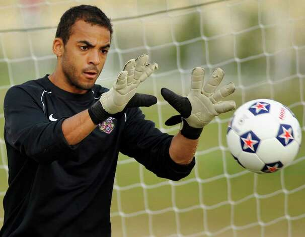 San Antonio Scorpions goaltender Craig Hill photographed during practice, Thursday, March 8, 2012, at STAR Soccer Complex in San Antonio. Photo: Darren Abate, Darren Abate/Special To The Express-News