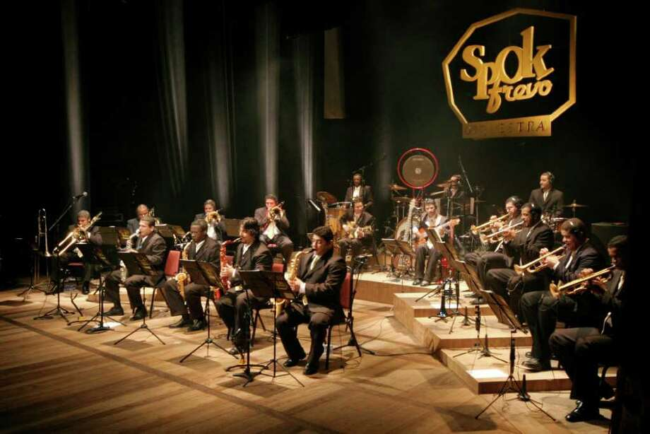 Brazilian big band SpokFrevo Orquestra will perform at the Performing Arts Center at Purchase College, 735 Anderson Hill Road, Purchase, N.Y., on Thursday, March 29, at 8 p.m. This is the band's first U.S. tour. Tickets are $37.50. For more information, call 914-251-6200. Photo: Contributed Photo