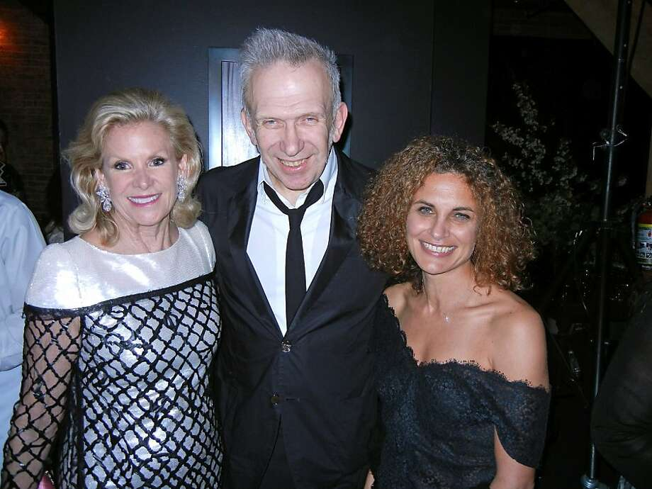 Fine Arts Museums President Dede Wilsey (left) with designer Jean Paul Gauliter and FAM curator Jill D'Alessandro. March 2012. By Catherine Bigelow. Photo: Catherine Bigelow, Special To The Chronicle