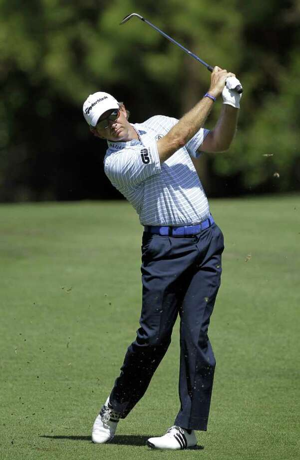 Retief Goosen, of South Africa, hits from the seventh fairway during the third round of the Transitions golf tournament, Saturday, March 17, 2012, in Palm Harbor, Fla. Photo: AP