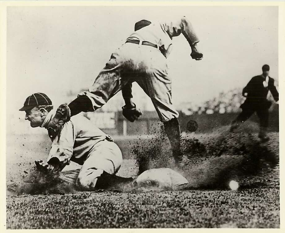 Ty Cobb, above, revolutionized the steal a century ago, stealing 96 in 1915.