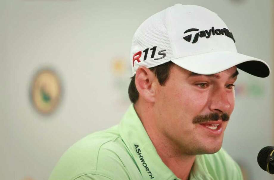 Johnson Wagner says he's very comfortableplaying in Texas, especially since his caddy is from Houston during a press conference before the Shell Houston Open, Tuesday, March 27, 2012, at the Redstone Golf Club in Houston.  ( Nick de la Torre / Houston Chronicle ) Photo: Nick De La Torre / © 2012  Houston Chronicle