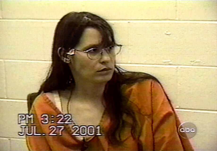 Andrea Yates is shown during a videotaped jail interview with psychiatrist Lucy Puryear in 2001 in Houston. The tape, shown in court on July 10, 2006, during her retrial, shows Yates explaining why she drowned her five children. Photo: KTRK-ABC News, Associated Press