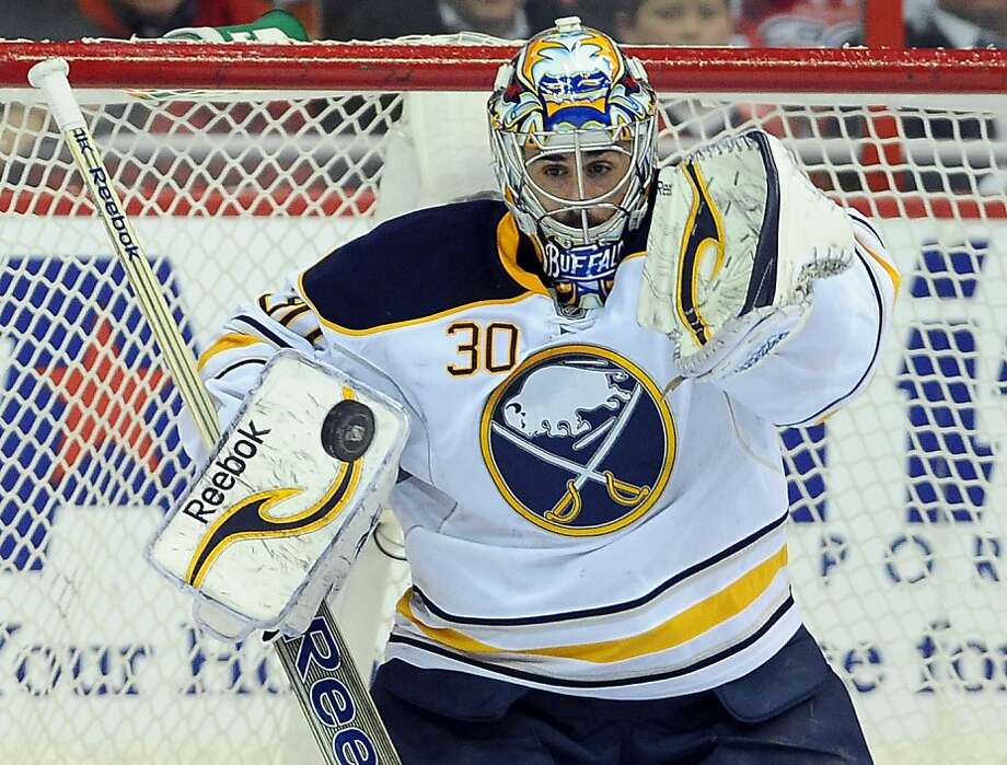 Buffalo Sabres goalie Ryan Miller (30) makes a save against the Washington Capitals during the second period at the Verizon Center in Washington, D.C., Tuesday, March 27, 2012. (Chuck Myers/MCT) Photo: Chuck Myers, McClatchy-Tribune News Service