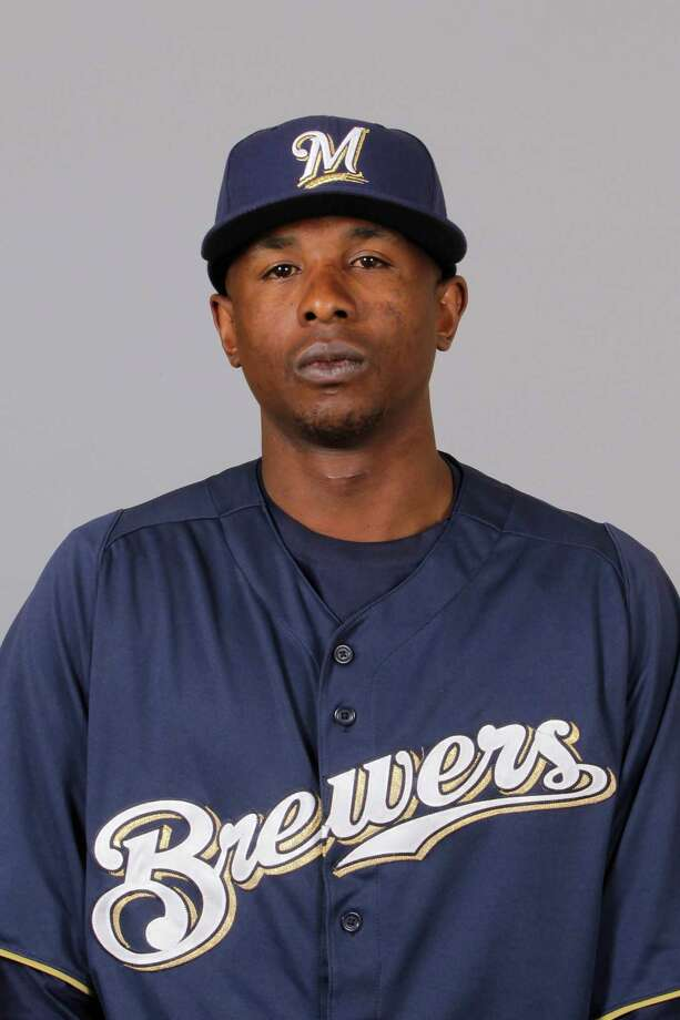 This is a 2012 photo of Nyjer Morgan of the Milwaukee Brewers baseball team.  This image reflects the Milwaukee Brewers active roster as of Feb. 26, 2012 when this image was taken. (AP Photo/Darron Cummings) Photo: Darron Cummings / Associated Press / MLBPV AP