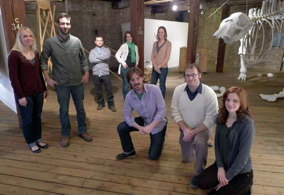 Collar Works Board of Directors Colin Boyd, Kristin Boyd, Ben Hillis, Jennifer Hunold, Jenny Kemp, Sanford Mirling, Kevin Mullen, Jake Winiski and Georgia Wohnsen in Troy, NY Friday March 16, 2012.( Michael P. Farrell/Times Union ) Photo: Michael P. Farrell / 00016622A