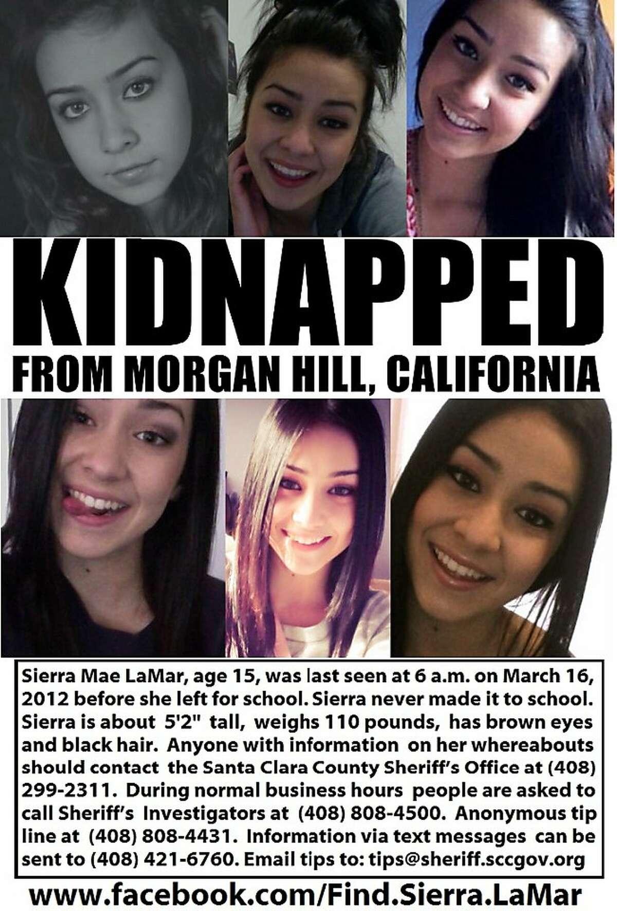 Sierra LaMar is missing from her home near Morgan Hill.