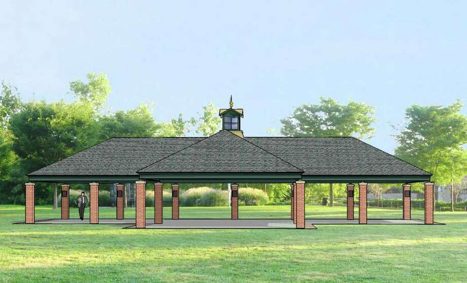 Artist rendering of Derby Shelton Rotary Pavilion in Veterans Riverwalk Park, in Shelton, Conn. Photo: Contributed Photo
