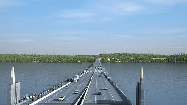 A conceptual view of the new SR 520 floating bridge, looking east. Photo: Washington State Department Of Transportation / WSDOT