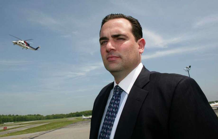 John Lucarelli, seen here at Westchester County Airport in 2010, is the chairman of the Greenwich Town Properties Committee. Photo: David Ames, Greenwich Time / Greenwich Time