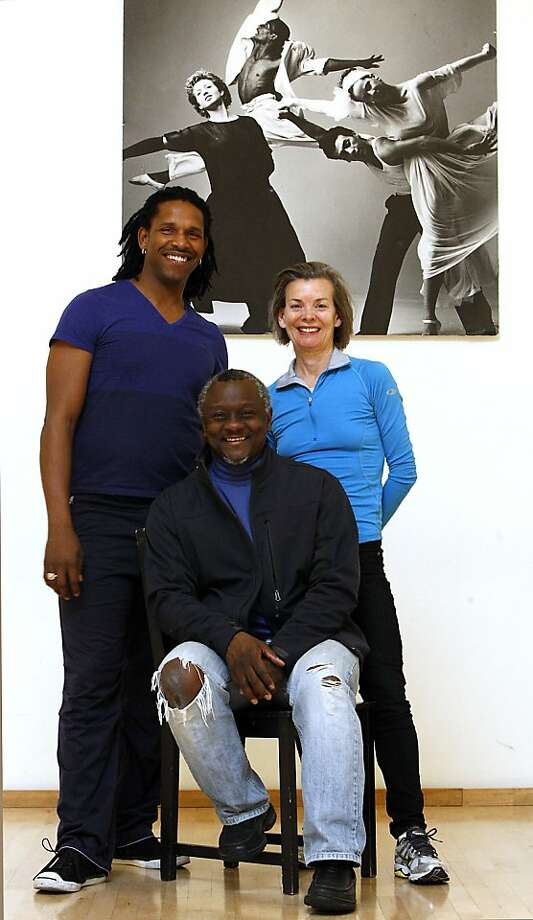 Director Robert Moses (center) and choreographers Molissa Fenley (right) and Ramon Ramos Alayo pose for a picture at ODC Commons Dance studio in San Francisco, Ca on March 5, 2012. Photo: Siana Hristova, The Chronicle