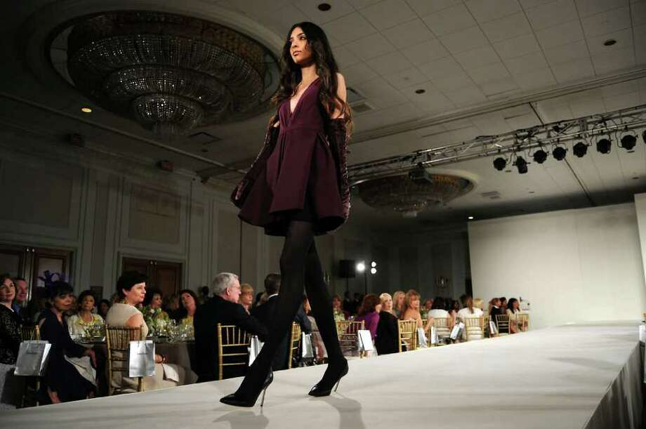 A model wears J. Mendel at the 30th Annual Houston Chronicle Best Dressed Luncheon at the Westin Galleria Hotel Wednesday March 28,2012. Photo: Dave Rossman, For The Chronicle / © 2012 Dave Rossman