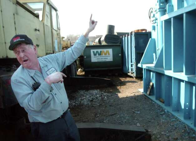 FILE PHOTO: Don Lajoie explains how his new metal shredder will increase the efficiency and reduce dust and fumes emission. Many of the equipment the firm uses was designed and built by Lajoie himself and his workers. Photo: PAUL DESMARAIS, ST / ST