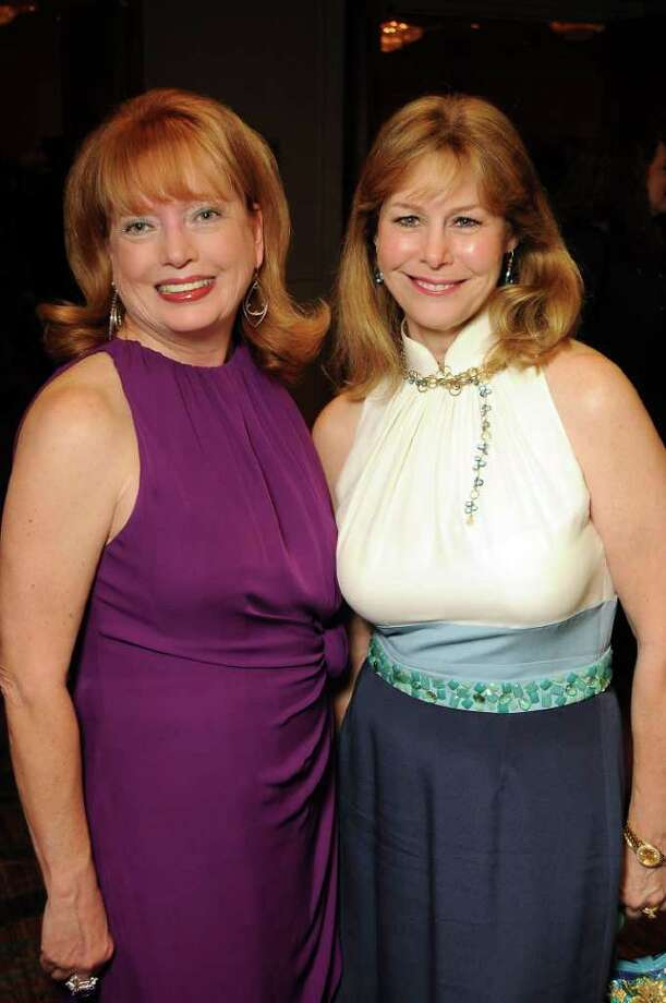 Karen Wildenstein and Cheryl Byington at the 30th Annual Houston Chronicle Best Dressed Luncheon at the Westin Galleria Hotel Wednesday March 28,2012. Photo: Dave Rossman, For The Chronicle / © 2012 Dave Rossman