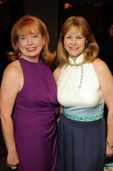 Karen Wildenstein and Cheryl Byington at the 30th Annual Houston Chronicle Best Dressed Luncheon at