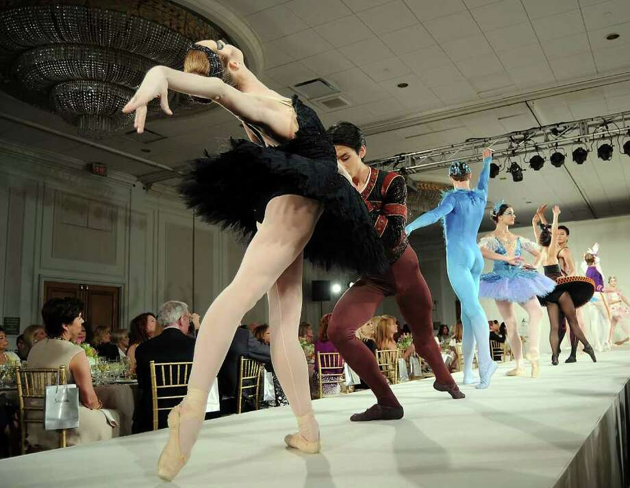 Members of the Houston Ballet perform at the 30th Annual Houston Chronicle Best Dressed Luncheon at the Westin Galleria Hotel Wednesday March 28,2012. Photo: Dave Rossman, For The Chronicle / © 2012 Dave Rossman