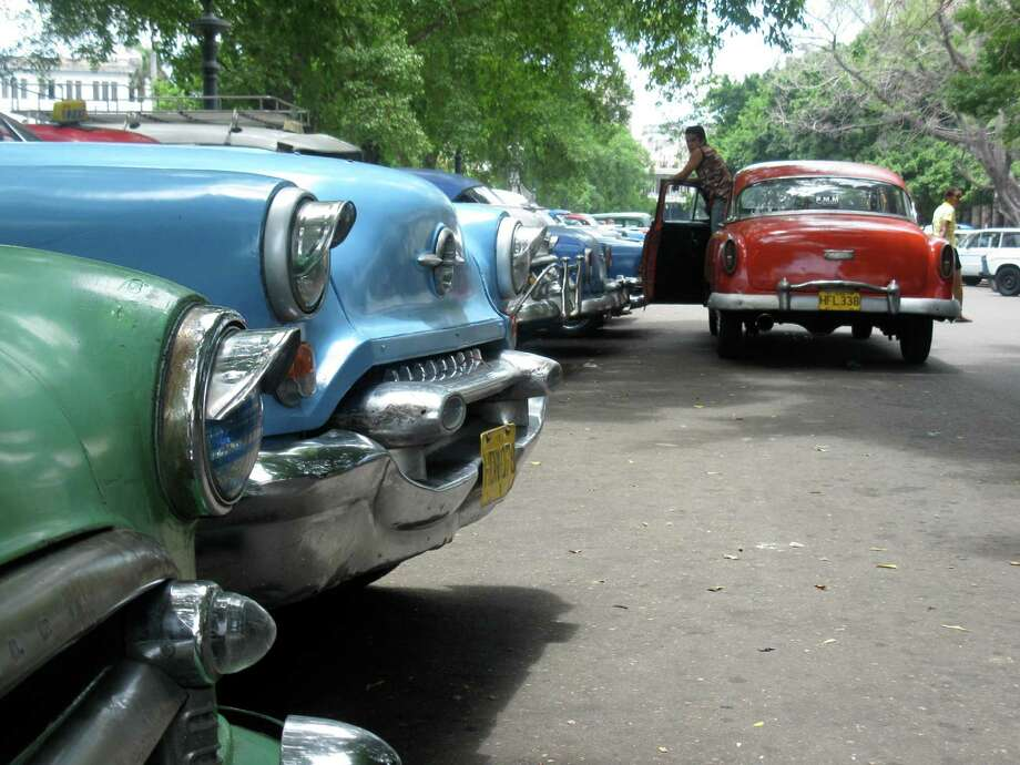American and European cars from the 1950s still are operable today in Havana, Cuba. (Photo by Joy Sewing) Photo: Joy Sewing