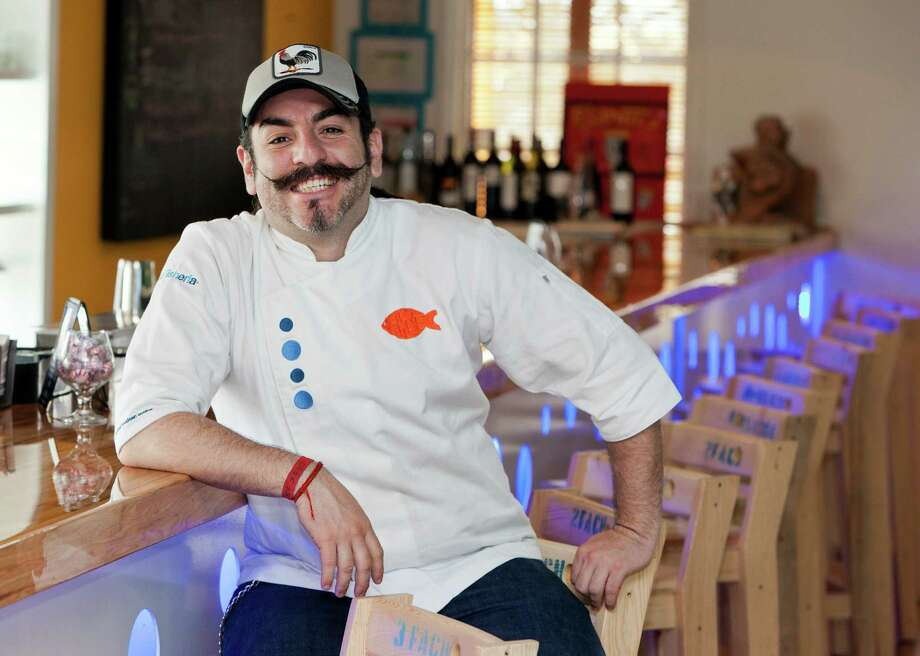 Good Life restaurant feature at La Fisheria, 4705 Inker Street. ID: Chef Aquiles Chavez Thursday 3/15/12 (Craig H. Hartley/For the Chronicle) Photo: Craig Hartley / Copyright: Craig H. Hartley