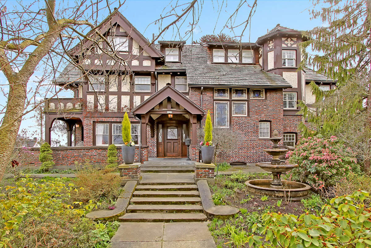Exterior of the Hainsworth/Gordon House, at 2657 37th Ave. S.W. Seattle designated the house a landmark in 1981.