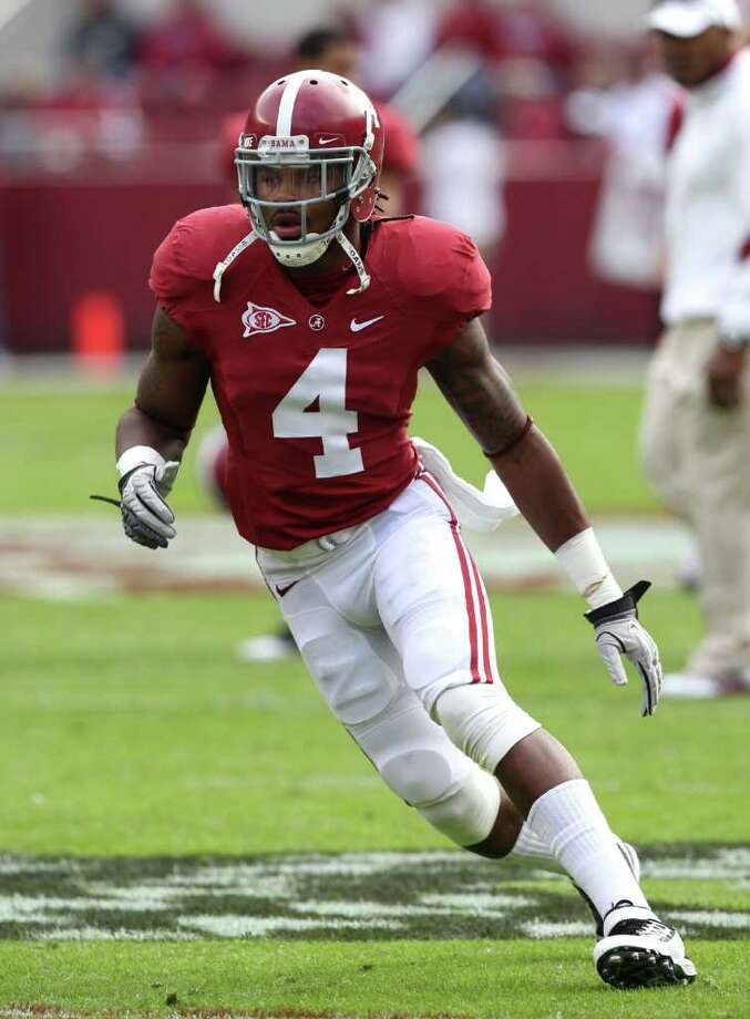 Defensive back Mark Barron (above) will take part in the Alabama pro day Jason Garrett is attending. Mike Zarrilli / Getty Images Photo: Mike Zarrilli, Getty Images / 2011 Getty Images
