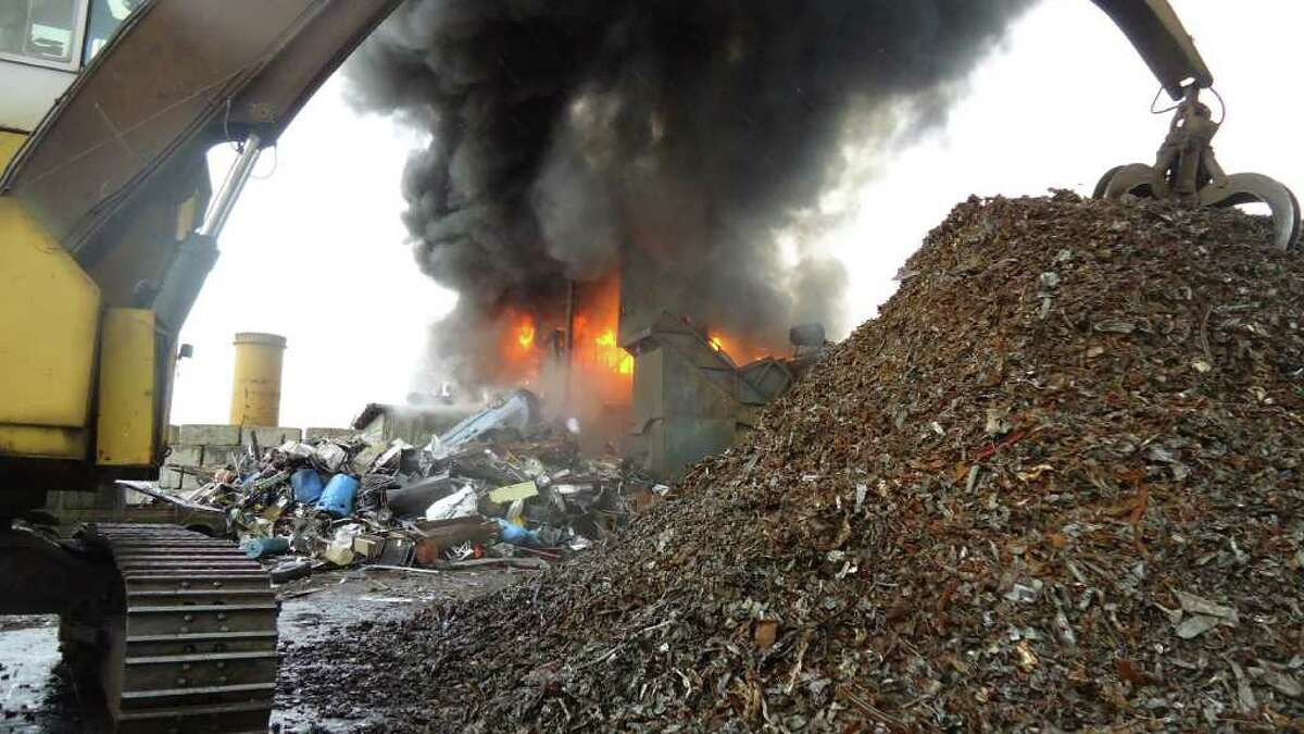 A fire in a car shredder started shortly before 2 p.m. on Wednesday, March 28, 2012 in the processing plant at LaJoieâÄôs Auto Wrecking, 40 Meadow St. in Norwalk, Conn. The property is owned by Don LaJoie, a former race car driver and father of former NASCAR driver Randy LaJoie. The LaJoie family also owns property in Danbury, New Milford and Bridgeport. No injuries were reported and the cause of the fire is still under investigation by the Norwalk Fire Marshal Division.